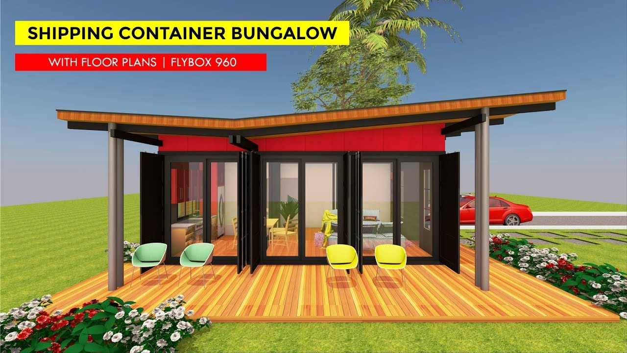 Shipping Container 3 Bedroom Bungalow House Design with Floor Plans on shipping container apartment plans, shipping container pool plans, shipping container storage plans, shipping container bedroom plans, shipping container studio plans, shipping container house plans, shipping container cabin plans,