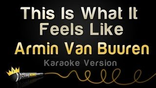 Armin Van Buuren - This Is What It Feels Like (Karaoke Version)