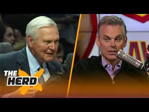 Colin Cowherd reacts to Jerry West saying the NBA will 'overtake all the other sports' | THE HERD