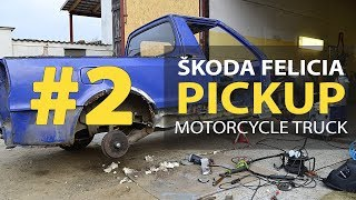 #2 Skoda Felicia Pickup 1.9D Rebuilding A Wrecked - Repair of the car threshold and floor