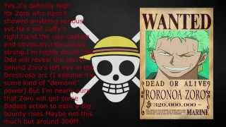 One Piece Bounty Prediction After Dressrosa