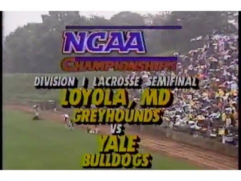 OLD SKOOL Lax  1990 Mens Lacrosse Division 1 semi final Loyola vs Yale