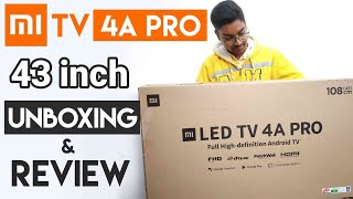 Mi TV 4A Pro 43 inch Review & Unboxing in Hindi