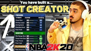 THE BEST PURE SHOT CREATOR BUILD in NBA2K20! Best Guard Build 2K20!