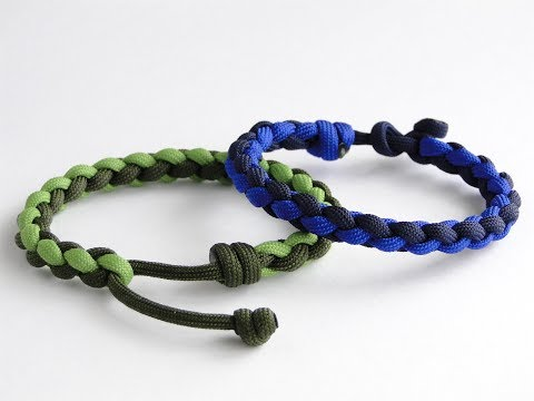 Download How To Make A Flat 4 Strand Round Braid Paracord Bracelet