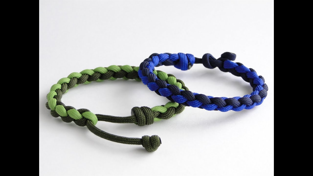 How to Make a Four Strand Round Braid/Single Strand Mad Max Style Closure  Paracord Bracelet