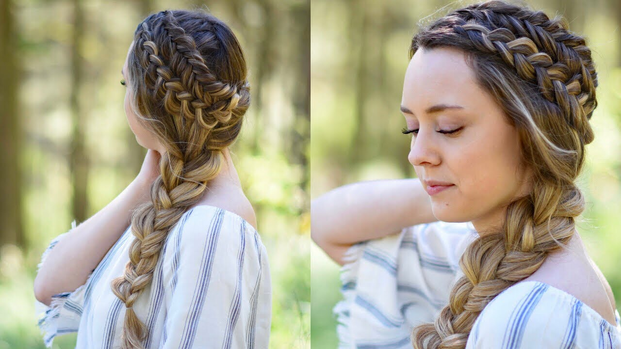 double dutch side braid diy