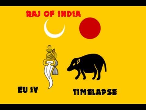 EUIV-Raj of India Timelapse