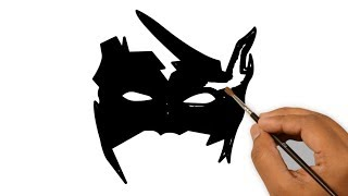 How to Draw krrish mask - Hrithik roshan
