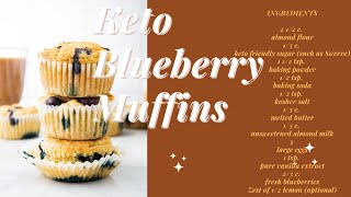 How To Make Keto Blueberry Muffins
