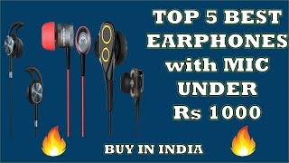 5 Best Earphones with MIC under Rs.1000 || Budget Headphones 2018 || in Hindi || इयरफ़ोन खरीदें