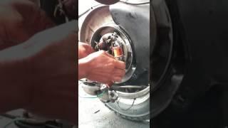 Pemasangan  spull lampu vespa sprint 1976 diubah dari 6 volt ke 12 volt