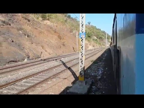 INDIAN RAILWAYS : Nagpur-Mumbai Sewagram Express Full Journey Igatpuri-Kasara Ghat Section