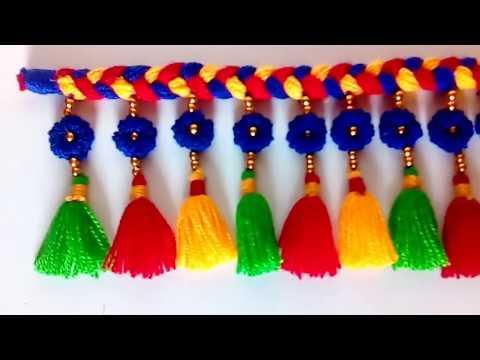 DIY easy woolen door hanging/ Amazing door hanging/ ऊन की तोरण/ wool craft