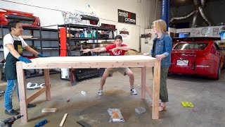 dream garage new addition building a huge table