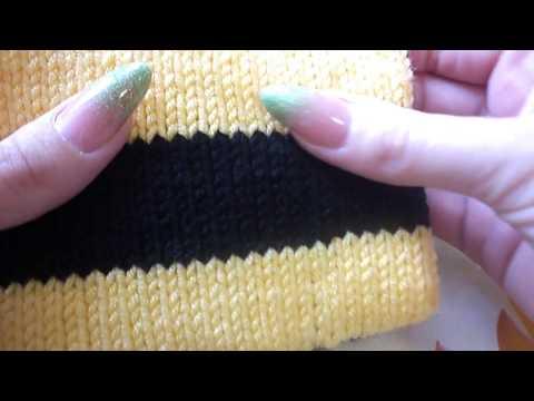Переход цвета при вязании по кругу (спицы)