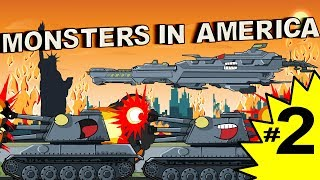 Monsters in America EP 2 KB 88 goes to the rescue - Cartoons about tanks