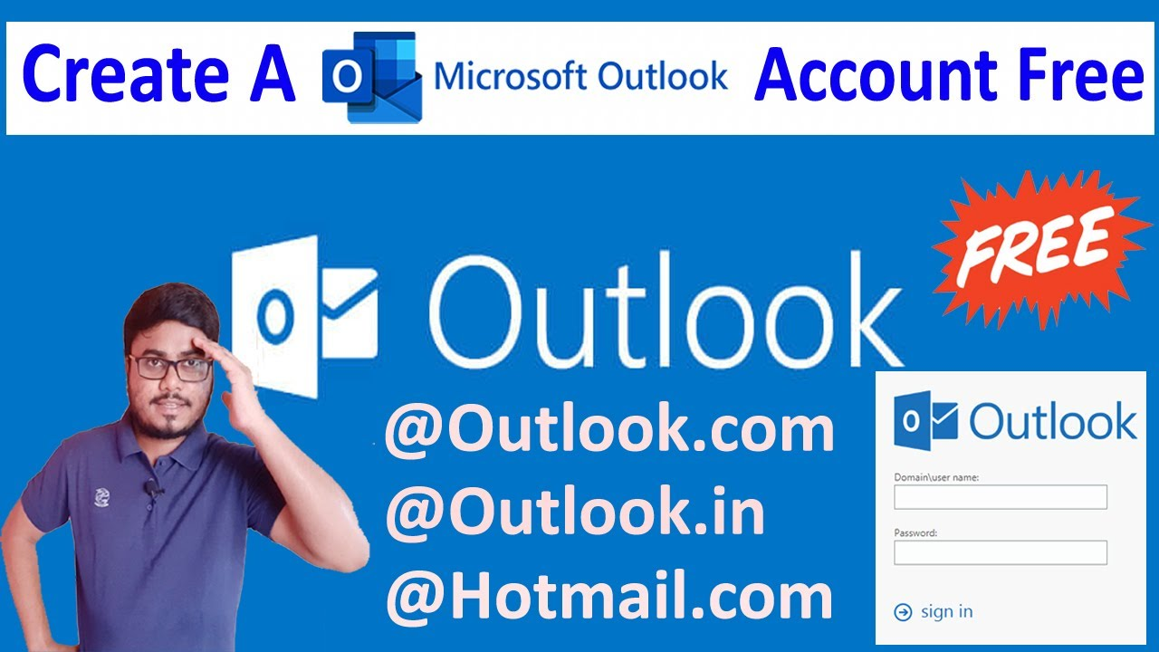 How To Create A Microsoft Outlook Account Free In 2020 Create Microsoft Outlook Email Address Youtube