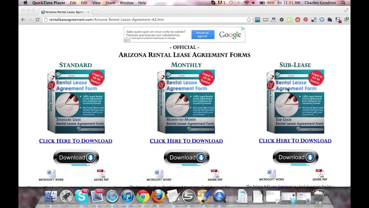 Arizona Rental Agreement Youtube