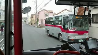 【前面展望(狭隘)】東急バス日23系統 さくらが丘→日吉駅