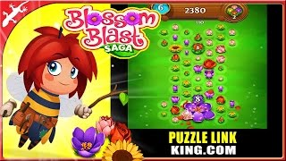 Blossom Blast Saga : New Puzzle game from Candy Crush Creator (ios Gameplay level 1-5)