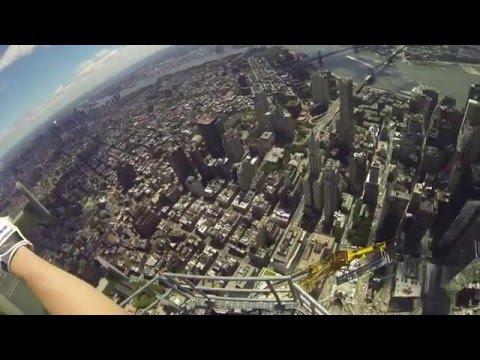 Engineer Climbs One World Trade Center Spire