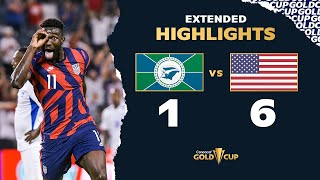 Extended Highlights: Martinique 1-6 USA  Gold Cup 2021
