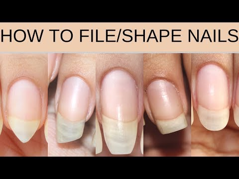 HOW TO FILE/SHAPE NAILS | Square, stiletto, oval, lipstick, ballerina - YouTube