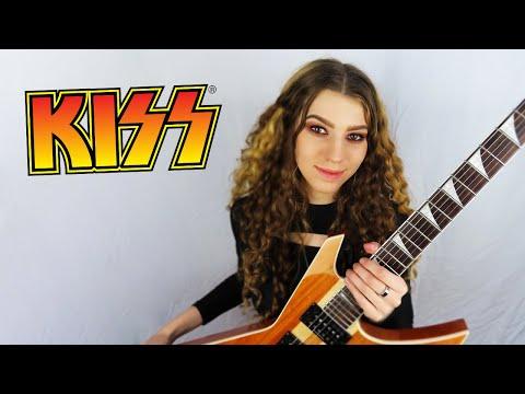 KISS - Love Gun (guitar Cover + SOLO) | Sonia Anubis