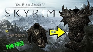 Skyrim: How to get Daedric ARMOR and WEAPONS for FREE! Works 100%  ANY LEVEL