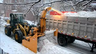 Video still for DETAILED SNOW REMOVAL OPERATION IN MONTREAL CANADA