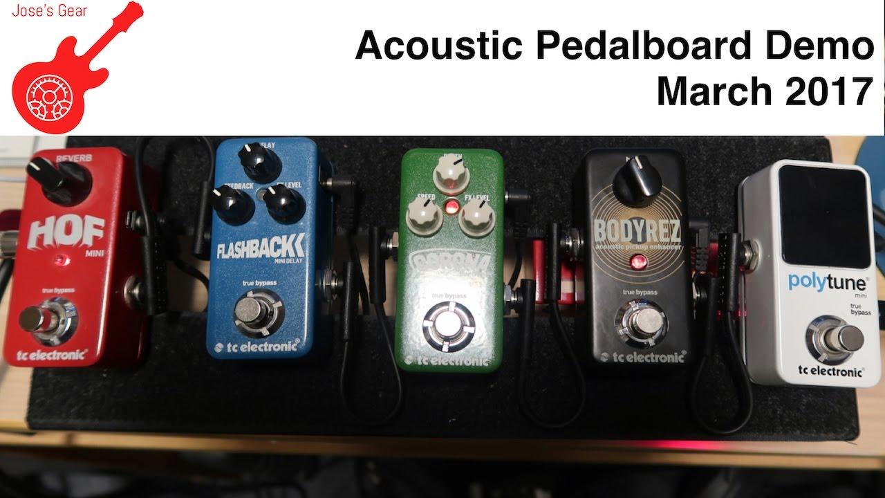 mini acoustic guitar pedalboard demo march 2017 youtube. Black Bedroom Furniture Sets. Home Design Ideas