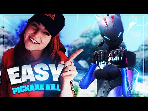 EZ PICKAXE KILL TO WIN THE GAME! (Fortnite: Battle Royale)   KittyPlays
