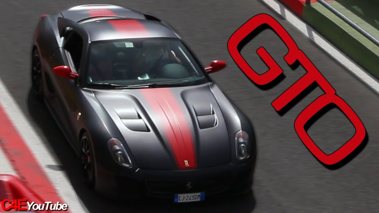 matte black ferrari 599 gto fast fly bys sound acceleration - Matte Black Ferrari 599