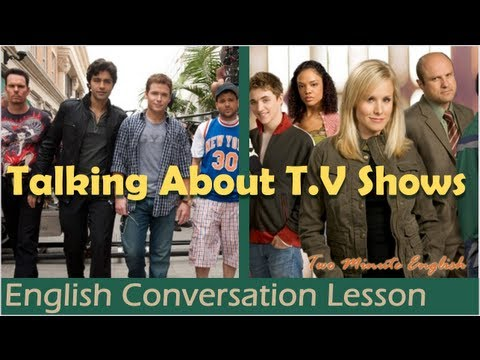 Talking About T.V s  Learn English Language