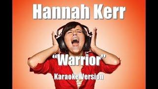 "Hannah Kerr ""Warrior"" BackDrop Christian Karaoke"