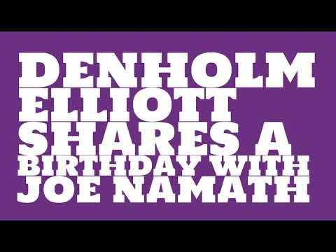 What was Denholm Elliott's astrological sign?