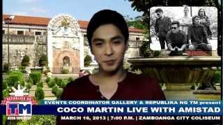 coco martin live in zamboanga with amistad