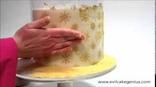 Evil Cake Genius - Sparkle Pattern Stencil