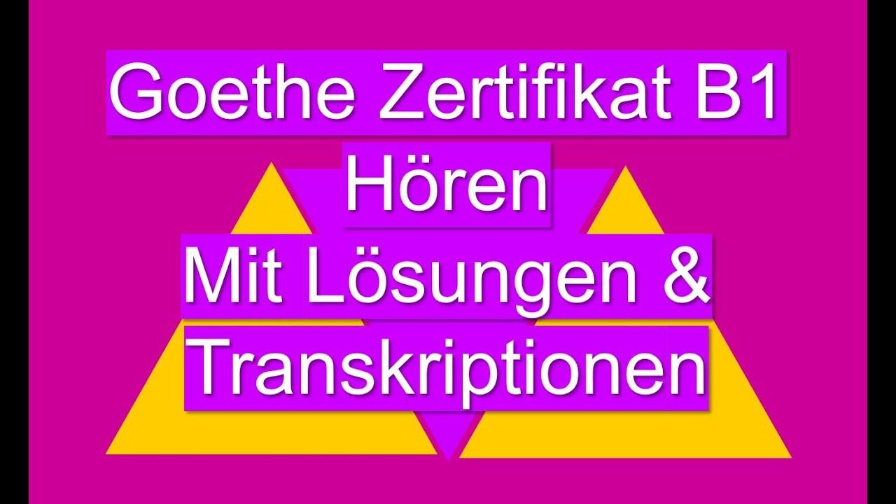 Обложка видеозаписи Examen Goethe Zertifikat B1 Hören | German Listening Exam B1
