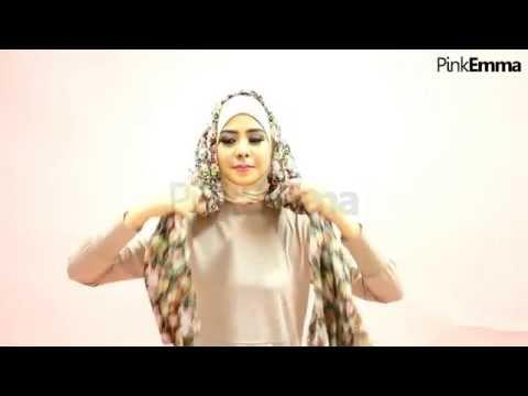 Tutorial Pashmina Floral Risty Tagor Untuk Kuliah Di Bulan Ramadhan