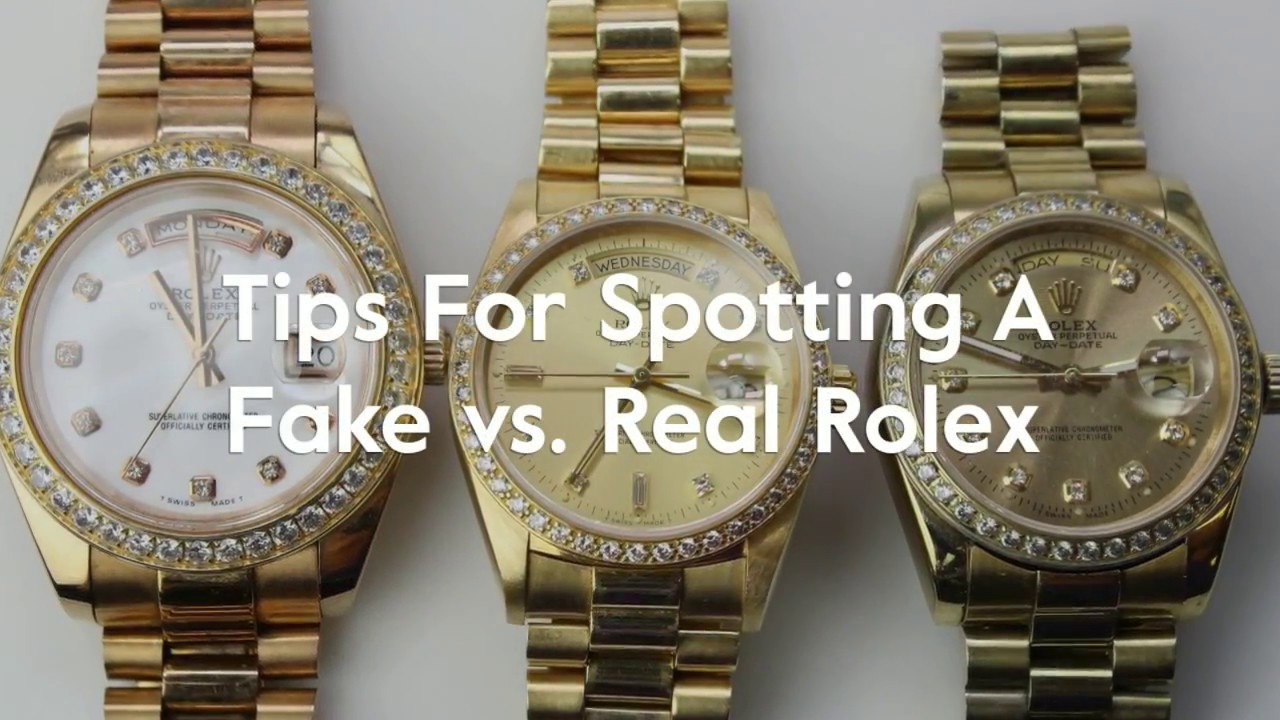 Real Rolex Watches >> Tips For Spotting A Fake Vs Real Rolex Youtube