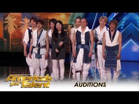 Blue Tokyo Japanese Dance Group: Bodies FLYING All Over The Stage!! | America's Got Talent 2018