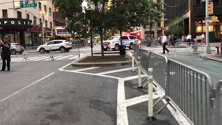 NYPD ESU TAC MEDIC AMBULANCE TAKING UP FROM A MULTI INTERAGENCY PREPAREDNESS DRILL IN MANHATTAN, NYC