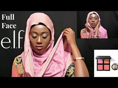 FULL FACE USING ONLY ONE MAKEUP BRAND | E.L.F COSMETICS | DRUGSTORE | Modern Hijabista