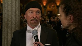 The Edge was interviewed at the Nobel Banquet at Stockholm City Hal...