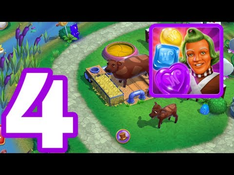 WONKA'S WORLD OF CANDY - Gameplay Walkthrough Part 4 iOS / Android - Candy Corn Acres Restored