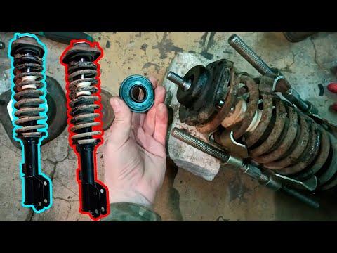 Замена амортизаторов Chery Kimo ремонт передних стоек.