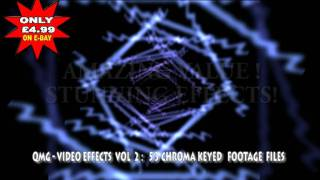 QMG - VIDEO EDITING EFFECTS VOL 2 - CHROMA KEYED FILM FOOTAGE