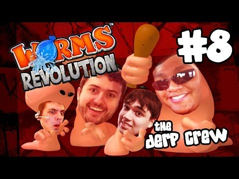 THE ULTIMATE FORT BATTLE Pt. 3 (Worms Revolution w/ The Derp Crew) |